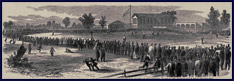1865 Philadelphia Baseball Game. Click to enlarge.