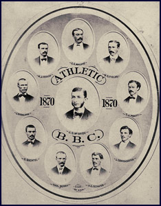 1870 Athletic Base Ball Club photo. Click to enlarge.