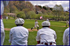 19th Century Baseball at Old Bethpage, 04-29-07. Click to enlarge.