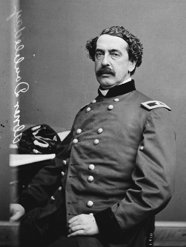 Baseball history photo: Abner Doubleday who, despite the best attempts of A.G. Spalding to prove otherwise, did not invent baseball.  Click photo to return to previous page.