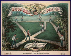 Baseball Polka sheet music. Click to enlarge.