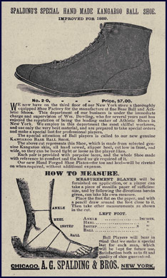 Base Ball Shoe. Click to enlarge.