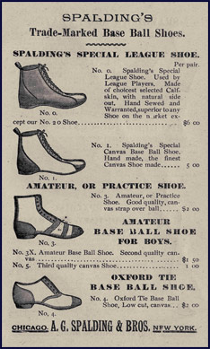 Base Ball Shoes. Click to enlarge.
