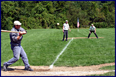 1864 Baseball Match - Eureka of Hempstead (NY) vs Knickerbocker Club (NY) at Old Bethpage, NY. Click to enlarge.