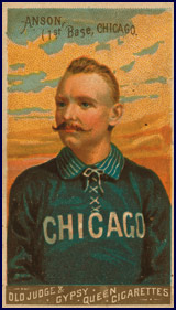 Cap Anson, first baseman for the Chicago White Stockings. Click to enlarge.
