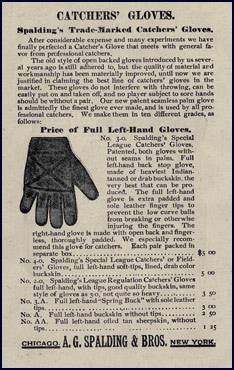 Catcher's gloves. Click to enlarge.