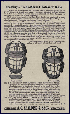 Catcher's masks. Click to enlarge.