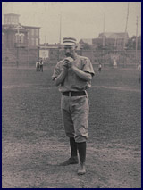 Charlie Ferguson on the field circa 1887. Click to enlarge.