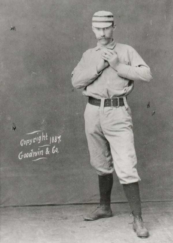 Baseball history photo: Charlie Ferguson, star pitcher of the Philadelphia Phillies.  Click photo to return to previous page.