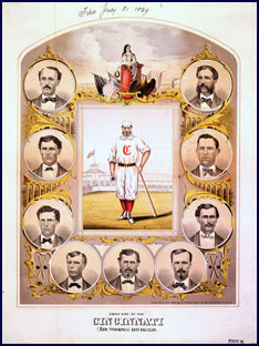 1869 Cincinnati Red Stockings.  Click to enlarge.