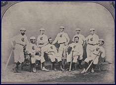 Cincinnati Red Stockings Team photo. Click to enlarge.