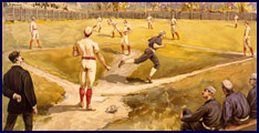 Baseball history color print. Click to enlarge.