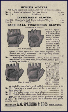 Fingerless baseball gloves. Click to enlarge.