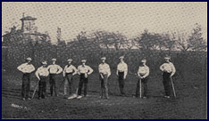 The first baseball nine at Princeton, 1860. Click to enlarge.