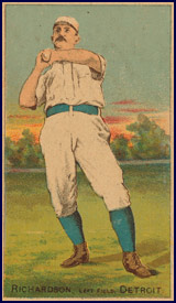 Baseball card featuring Hardy Richardson. Click to enlarge.