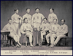 Harvard Baseball Nine, 1867. Click to enlarge.