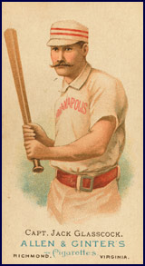 Baseball card featuring Jack Glasscock. Click to enlarge.