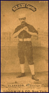John Clarkson from baseball card image circa 1887. Click to enlarge.