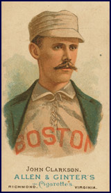 John Clarkson baseball card circa 1887. Click to enlarge.