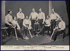 Lowell Baseball Nine, 1865. Click to enlarge.