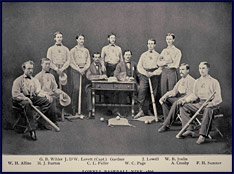 Lowell Baseball Nine, 1866. Click to enlarge.