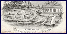 Ticket to the First Annual Ball of the New York Magnolia Ball Club, Friday evening, February 9, 1844. Click to enlarge.