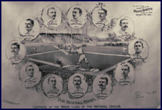 National League Team Captains circa 1895. Click to enlarge.