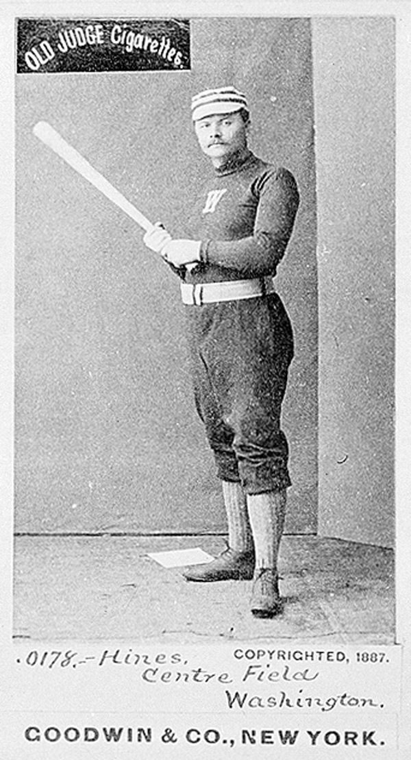 Paul Hines of the 1887 Washington Nationals of the National League. Click photo to return to previous page.