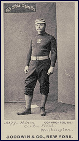 Paul Hines Baseball Card. Click to enlarge.