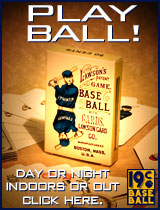 Lawson's Patent Game, Baseball With Cards. Click here!
