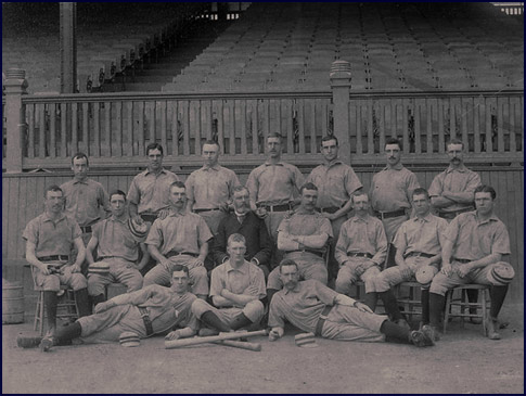 Philadelphia Phillies Base Ball Team circa 1887. Click to enlarge.