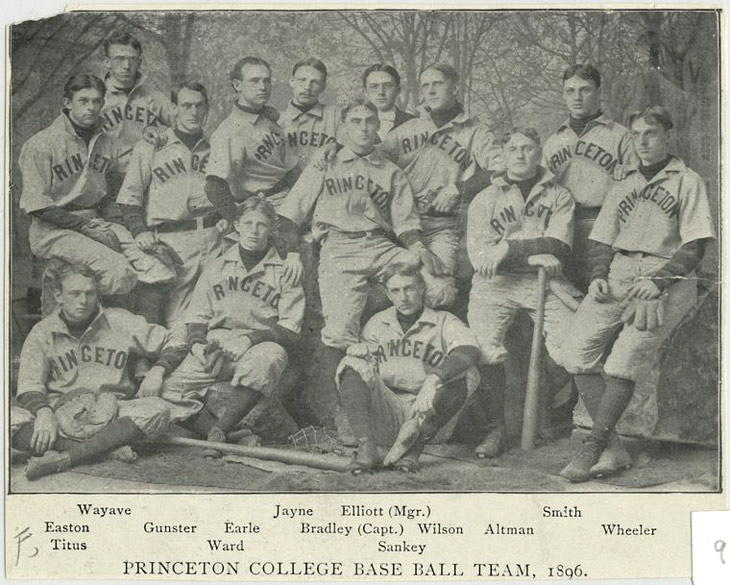 Baseball history photo: Princeton College Base Ball Team, 1896. Click photo to return to previous page.