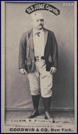 Pud Galvin baseball card, circa 1887. Click to enlarge.