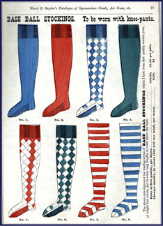 Snyder's Base Ball Stockings. Click to enlarge.