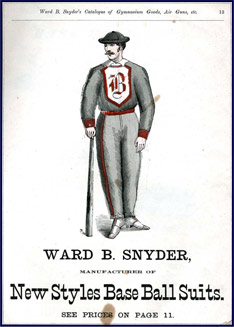 Snyder's Base Ball Suits. Click to enlarge.
