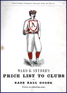 Snyder's Base Ball Uniforms. Click to enlarge.