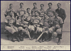 Stanford University Baseball Team, 1896. Click to enlarge.