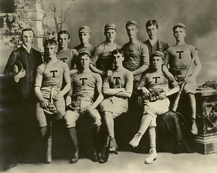 Baseball history photo:Trinity College Baseball Team, 1885. Click photo to return to previous page.