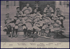 University of Chicago Baseball Club, 1896. Click to enlarge.