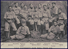 Yale University Baseball Team, 1896. Click to enlarge.